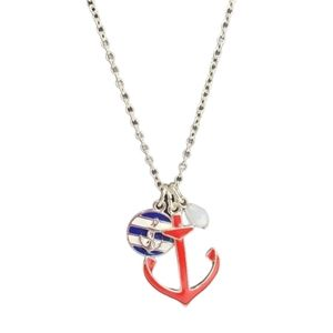 Avon Nautical charm necklace and earring set